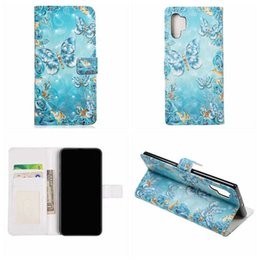 note cover pouch NZ - For Samsung Note 10 pro A90 A80 A60 A20E 3D Bling Leather Wallet Case Flower Lace Marble Heart Fairy Butterfly Holder Pouch Slot Flip Cover