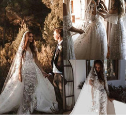 new model nude UK - 2020 New Zuhair Murad Wedding Dresses With Overskirts Cap Sleeve Bridal Gowns Sheer Neck Lace Wedding Dress Plus Size