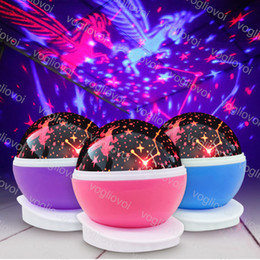 $enCountryForm.capitalKeyWord NZ - Table Lights Newest Romantic New Rotating Star Moon Sky Rotation Night Projector Light Lamp Projection with high quality Kids Bed Lamp DHL