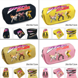 $enCountryForm.capitalKeyWord Australia - Jojo's Bizarre Adventure Canvas Pencil Case Zip Student Pen Bag Cosplay Makeup Bag Cosmetic Stationery Box School Supplies