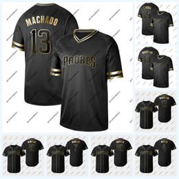 c7b17f019 13 Manny Machado 2019 Golden Edition 4 Wil Myers 30 Eric Hosmer 7 Manuel  Margot 10 Hunter Renfroe 3 Ian Kinsler Padres Jersey