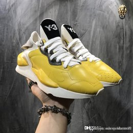 high cotton boots 2019 - Top sale 2019 High Quality Y-3 Kaiwa Chunky Men Women Casual Shoes Luxurious Fashion Yellow Black Red White Y3 Boots Sne