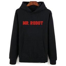 Hot Mr Robot Cinza Preto Moletom Com Capuz Homens Hip Hop No Inverno Outono Quente Estilo Hoodies Dos Homens E Camisolas de Grandes Dimensões