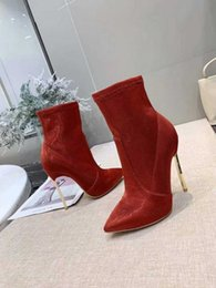 $enCountryForm.capitalKeyWord NZ - World Tour thin high heel Boot designer women boots Ankle Boots 11cm Heel boots korean style woman fashion shoe
