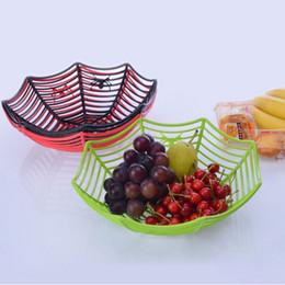 $enCountryForm.capitalKeyWord Australia - Plastic Spider Web Fruits Candy Basket Creative Spiderweb Bowl Halloween Party Decor 2018 Halloween decoration Party Supplies