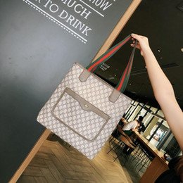 $enCountryForm.capitalKeyWord Australia - Classic Designers handbags multi color luxurys handbag big tote canvas bag leather purse fashion shopping bags large capacity ladies purse b