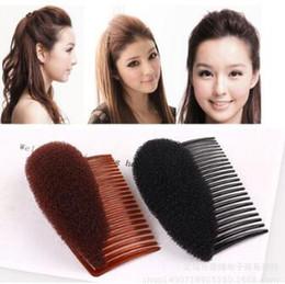 $enCountryForm.capitalKeyWord Australia - Black Brown Auto-stick Princess Head Fluffy Hair Forks Heighten Device Sticker Combs Hair Care & Styling Tools HA044