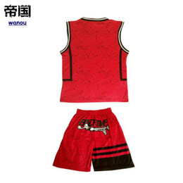 7105f25297d Kids Basketball Sets Boys Basketball Jerseys Youth Breathable Kits Children  Running Uniforms V-neck can Customized Any Logos