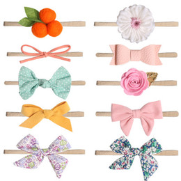 Trading Hair Australia - Pink photo children's hair accessories female baby flowers foreign trade headband beauty full new bow hair band