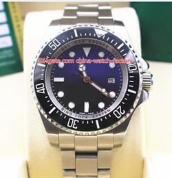 2 colores de alta calidad 44mm 116660 D-Azul Mar Negro Dweller Cerámica Bisel Acero inoxidable Asia 2813 Movimiento Reloj automático para hombre Relojes en venta