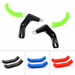Levers Wholesale Australia - Hot Sale 1pair Practical Durable Silicone Cycling Mountain Bike Protective Handle Sports Brake Lever Protector Accessories