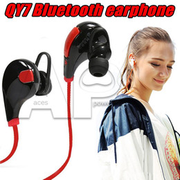 Wireless Headphones Mic Blue Australia - For Iphone In-ear Cancelling Stereo Headset Sport Earphone QY7 Wireless Microphone Running Headphones
