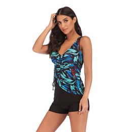 25206b13e0 iMaySon Womens Plus Size Two-Piece Deep V Style Dress Swimming Underwear  Swimwear Summer Beach Bikini Sexy Tankini Swimsuits Bathing Biquini