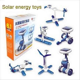 Wholesale 6 in Solar Toy DIY Power Solar Car Robot Plane Kit Solar Battery Powered Transform Educational Learning Novelty Toys Kids toys