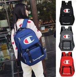 Kids Laptop Backpack Australia - Champions Backpack Fashion Laptop Backpacks Preppy Style Kids School Shoulder Bag Men Women Zipper Travel Bags 44*30*12cm 4 Color C3192