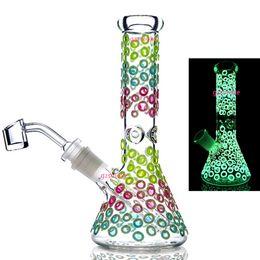 Bong perc Bowl online shopping - Colorful Heady Beaker Glass Bongs Water pipe Dab Rig Oil Rigs pipes perc filter bong smoking bowl quartz banger dabbing