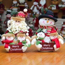 $enCountryForm.capitalKeyWord Australia - New Christmas Dolls Family Portrait Old Man Snowman Christmas Decoration For Home Festival Party Drop