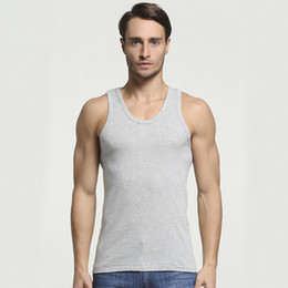 $enCountryForm.capitalKeyWord NZ - 2019 Summer Men Cotton Comfortable Undershirt Mens Sleeveless Tops Casual Shirt Underwear Male Muscle Vest Gym clothing for man