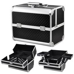 $enCountryForm.capitalKeyWord Australia - Large Space Beauty Make up Nail Tech Cosmetic Box Vanity Case Storage - black