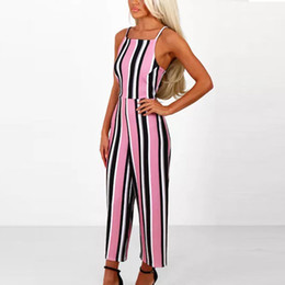 f15a09fd0d Hxroolrp 2019Women Sleeveless Striped Jumpsuit Casual Clubwear Wide Leg  Pants Outfit For 2019 Spring Summer rompers womens A1