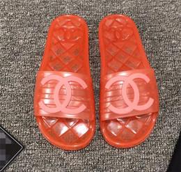 $enCountryForm.capitalKeyWord Australia - New Fashion Women's Casual sandals Candy-colored jelly Beach shoes flip-flops sliipers woman peep toe sandals C78521