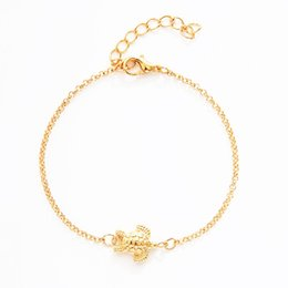 unisex gold chain design Australia - Luxury Gold Turtle Bracelet Unique Animal Turtle Design Chain Wedding Banquet Work Casual Bracelet High Quality Polished Lobster Clasp