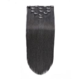 $enCountryForm.capitalKeyWord Australia - 100g Mongolian Clip Ins Human Hair 8 Pieces Set Brazilian Remy Straight Hair Clip In Human Hair Extensions