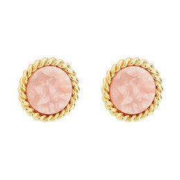 Simplicity Ring UK - 2009 New Pink Girl Heart Ring Acetic Acid Plate Ear Nail Earrings S925 Pure Silver Gold-plated Natural Strawberry Crystal Simplicity