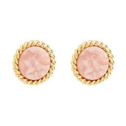 8c0d49d4cba2 2009 Nueva Pink Girl Heart Ring Acido Acido Placa Pendientes de Uñas de  Oído S925 Pure Silver Gold plated Natural Fresa Cristal Simplicidad