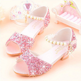 $enCountryForm.capitalKeyWord NZ - Girls sandals 2019 summer new Korean version of the princess shoes soft bottom fish mouth children host model performance high-heeled silver