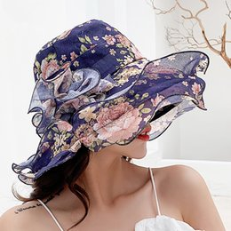 Art Church Australia - Summer New Women's Hat Wave Side Big Trip Out Sun Protection Sun Visor Art Small Fresh Floral Wild Fisherman Hat