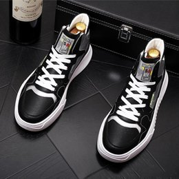 dress skateboard Australia - HOT New Men classic design Trendy Mixed colors platform Casual flats Shoes moccasins web celebrity skateboard Hip-hop Shoes