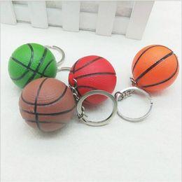 $enCountryForm.capitalKeyWord Australia - 20pcs lot 4cm basketball creative keychains for bag hanging key holder metal alloy key chains ring souvenir gifts sport love