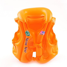 child float vest Australia - 3 pcsNew Arrival Baby Kid Safety Float Inflatable Swim Vest Life Jacket Swimming Aid For Age 3-6 S M L C19041201