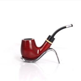 $enCountryForm.capitalKeyWord Australia - Red Sandalwood Curved Pipe 9mm Core Filter Tobacco Tool