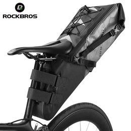 Foldable Cycles Australia - ROCKBROS Bicycle Waterproof Bag Bike Saddle Bag Cycling Foldable Tail Rear Seat MTB Backpack Accessories High-capacity 10L
