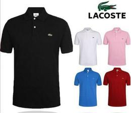 venda por atacado Mens Designer Polos Marca pequeno cavalo homens vestuário crocodilo bordado tecido carta polo t-shirt gola t-shirt ocasional camiseta partes superiores C6