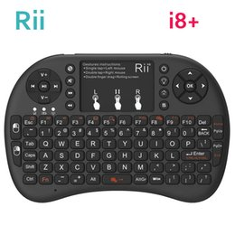 rii gaming keyboard NZ - ice & Keyboards Keyboards [Genuine] Rii mini i8+ 2.4G Wireless gaming keyboard backlit English Hebrew Russian With TouchPad Mouse for...