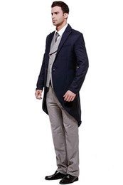 $enCountryForm.capitalKeyWord NZ - Men's Wedding Dresses 3-Piece Suit Blazer Jacket Tux Vest Three Pieces (Jacket+Vest+Pants) 2 Button Trim Fit Great for Wedding Bussiness