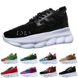 Camp Shoes For Men Australia - 2019 Chain Reaction Running Shoes For Men Women Designer Luxury Sports Sneakers Lightweight Link-Embossed Sole Trainers Casual Shoes 36-45