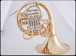 Lo nuevo instrumento Hermosa Bach 4 Claves Bb / F Doble trompa del cobre del oro musical profesional con el caso en venta