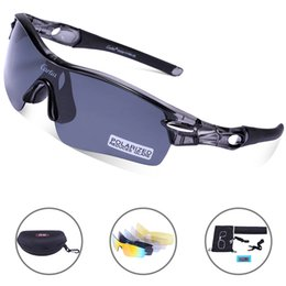 7bc7dd9c9d66 Frame lightweight eyewear online shopping - Carfia Polarized Sports  Sunglasses for Men Women Interchangeable Lens UV400