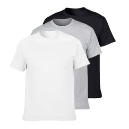$enCountryForm.capitalKeyWord NZ - 3Pcs Hot Sale Classic Men T shirt Short Sleeve O neck Mens T-shirt Cotton Tees Tops Mens Brand tshirt Plus size XS-3XL