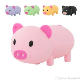 cute usb flash UK - Tina Wholesales price Cartoon Usb Flash Drive Cute Pig Pen Drive 2GB-64GB Gift Usb Drives & Storages U355 Stick