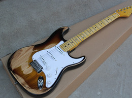 $enCountryForm.capitalKeyWord Australia - Factory custom retro electric guitar body with vintage yellow neck, white pickup, custom color micro-label