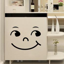 $enCountryForm.capitalKeyWord Australia - Smiley Face Carved PVC Wall Sticker Home Decor Wardrobe Refrigerator Cabinet Stove Art Mural Poster Self-adhesive DIY Wallpaper