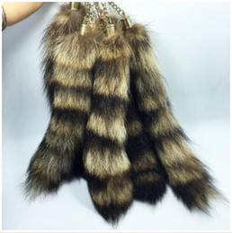 $enCountryForm.capitalKeyWord NZ - Raccoon Tail Keychain Pendant 280mm-300mm Car Bag Buckle Keychains Fashion Accessories DIY Buckles Keyrings For Woman Man Gifts