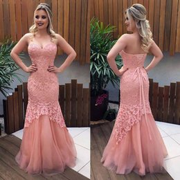 $enCountryForm.capitalKeyWord NZ - Mermaid Lace Prom Dresses Long 2019 Sweetheart Neckline Lace up Back Formal Evening Gowns Sweet 16 Dress Women Ball Party Gown