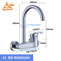 $enCountryForm.capitalKeyWord Australia - Single Handle Double Hole Wall-Mounted Hot and Cold Water Kitchen Faucet Balcony Laundry Pool Faucet Mop Full Copper Mixer