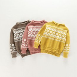 BaBy girl sweater knitting patterns online shopping - Baby Boys Girls Knitted Sweater Autumn Winter Vintage Pattern Toddler Knitwear Kids Cardigan Pullover Casual Children Clothing